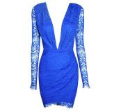 Slim Sexy Lace V-neck Dress