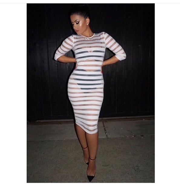 679278b3ce dress long sleeves long sleeve dress white dress black heels high heels cute  dress cute high