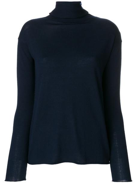 Aspesi - turtleneck jumper - women - Wool - 38, Blue, Wool