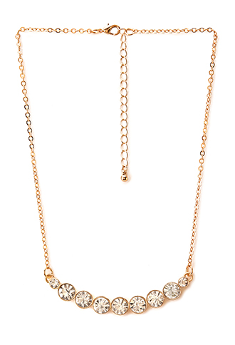 Glam It Up Rhinestone Necklace | FOREVER21 - 1000088215