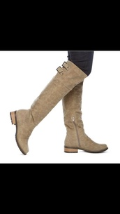 shoes,beige,boots,tall
