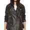 Acne studios swift leather jacket - black