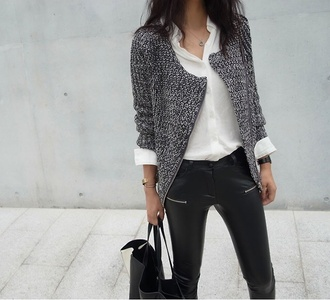 jacket grey outerwear fall outfits layers top grey black blazer