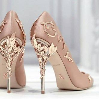 shoes heels high heels elegant elegant shoes elegant heels gold pale