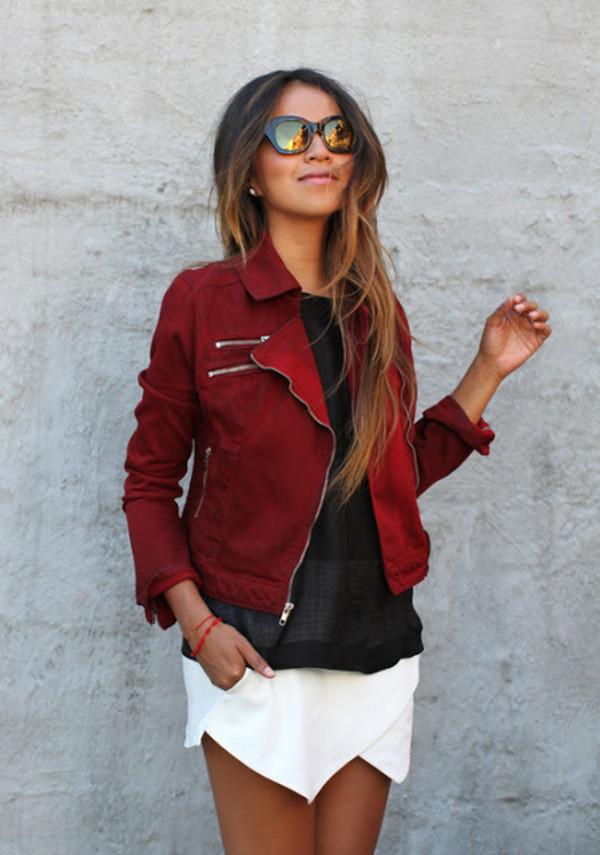GUESS Jacket, Long-Sleeve Motorcycle Zipper - Jackets & Blazers - Women - Macy's