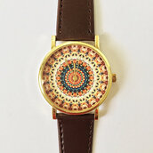 jewels,watch,handmade,style,fashion,vintage,etsy,freeforme,gift ideas,present,father's day,fathers day,summer,spring,indian,pattern,indian pattern