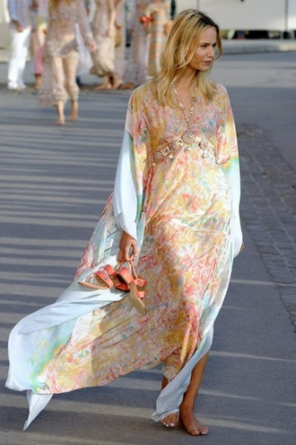 dress caftan kaftan caftan dress maxi maxi dress summer summer dress light blue colorfull coloful oriantal caftans