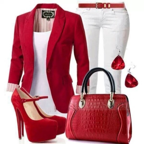 blouse jacket shoes bag pants