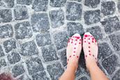 shoes,sandals,cute,original,red,transparent,polka dots