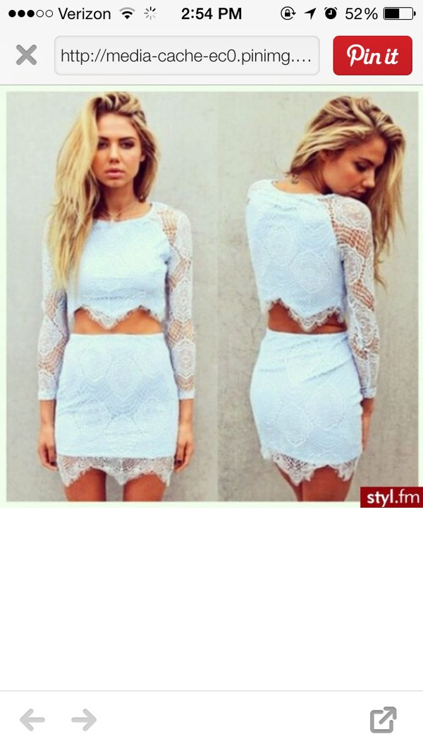 skirt dress shirt lace long sleeves lace dress two-piece two-piece