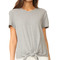 Madewell levine solid tie front top - heather pelican