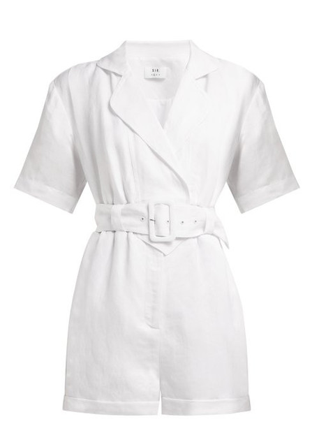 Sir - Dalila Linen Blend Playsuit - Womens - White