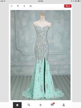 dress prom sparkly blue sparkles