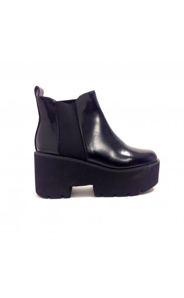 Carli Wedge Heel Black Chelsea Boots - from The Fashion Bible UK