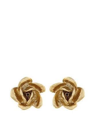 rose earrings stud earrings gold jewels
