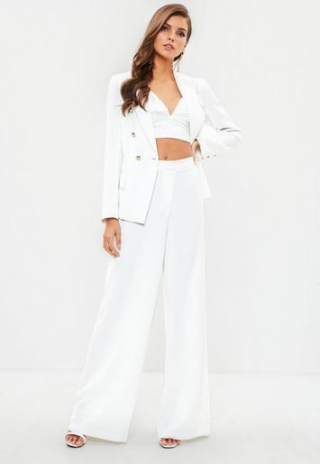 hot sales new arrival best choice Missguided - White Wide Leg Pants
