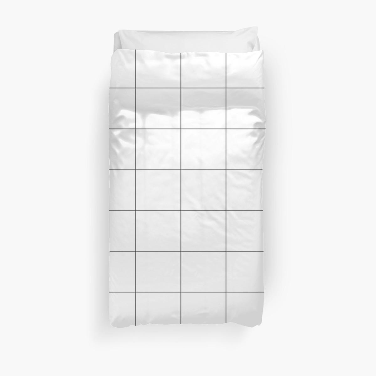 'Pretty Colors - Shades of White' Duvet Cover by almostruined