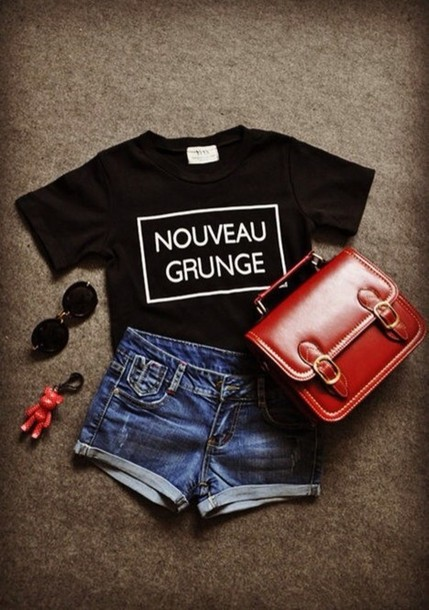 shirt black black top black tee shirt simple loose oversized loose tshirt t-shirt nouveau grunge summer