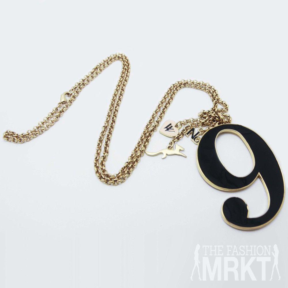 Wildfox Couture Gold Lucky No. 9 Pendant Necklace / TheFashionMRKT
