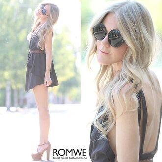 dress romwe dress black
