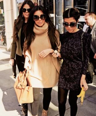 sweater kim kardashian kourtney kardashian khloe kardashian black sexy dress