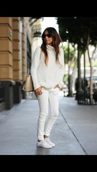 sweater mock neck high neck mock neck sweater high neck sweater knitted sweater white sweater