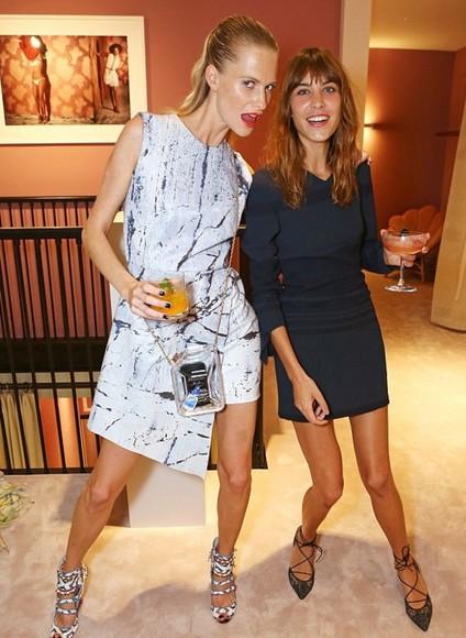 dress alexa chung fashion week 2014 poppy delevingne