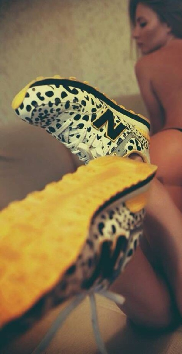 shoes new balance leopard print sneakers