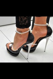 shoes,platform shoes,high heels,sandals,black and white