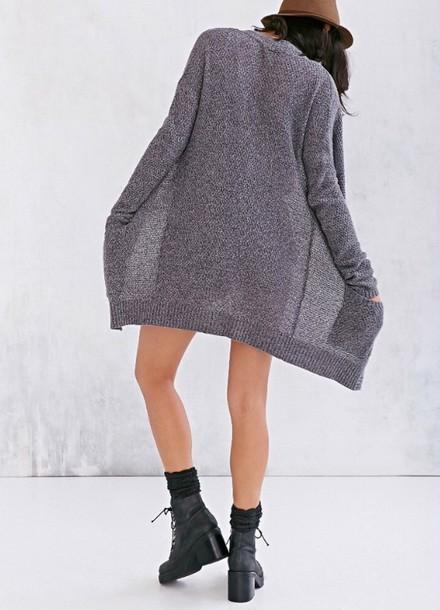 Cardigan Grey Cute Pllw2g Want