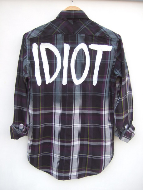 shirt flannel plaid ombre shirt