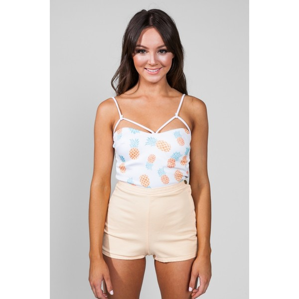 shirt pineapple strappy top