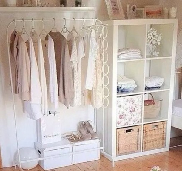 Home Accessory, White, Clothes Rack, Clothes, Home Decor, Shelves,  Shelving, Room Accessoires, Blouse, Closet   Wheretoget