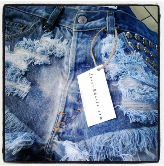 shorts acid wash denim jeans studded shorts levi summer vintage frayed shorts