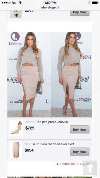 skirt khloe kardashian slit