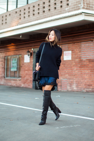 song of style sweater dress shoes bag