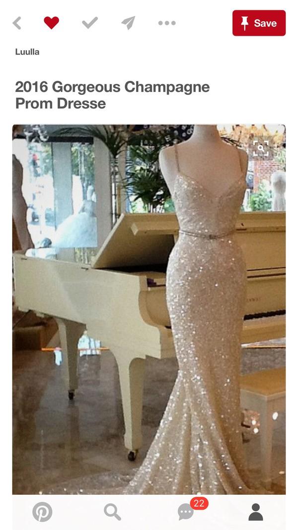 4b5cda9ac0 Backless Sequin Cami Maxi Dress ROSE GOLD -SheIn(Sheinside)