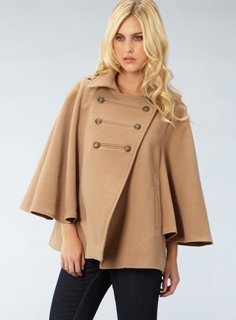 military button cape - Coats - Clothing - Dorothy Perkins