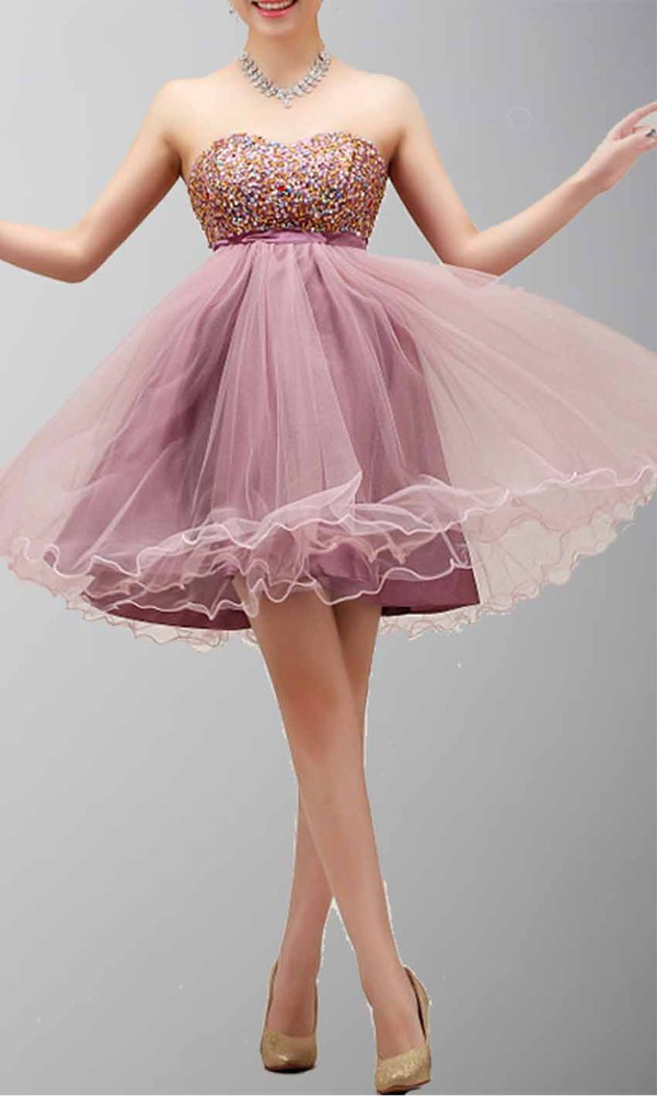 short prom dress empire waist dress sequin dress princess dress organza dresses homecoming dress formal event outfit