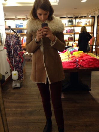 suede coat suede jacket fur coat lambswool tommy hilfiger winter clothes winter coat winter jacket