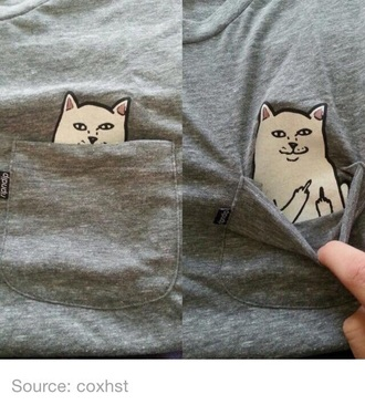 shirt tumblr cats t-shirt clothes