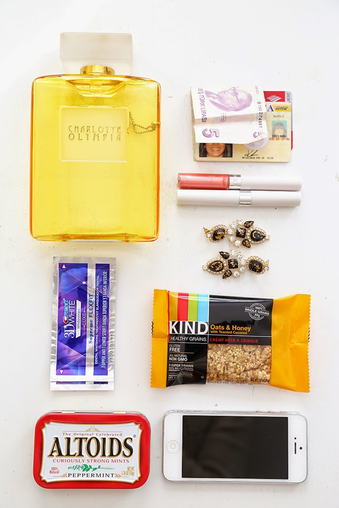 This Time Tomorrow: what's in my bag {evening edition}