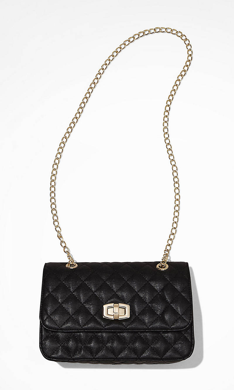 QUILTED CHAIN STRAP SHOULDER BAG from EXPRESS