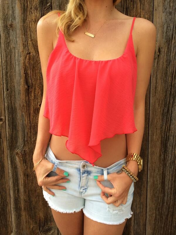 shirt chiffon top crop tops