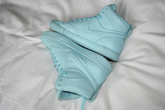 shoes nike nikes nike air nike dunk blue sportswear sporty high top sneakers baby blue trainers nike running shoes