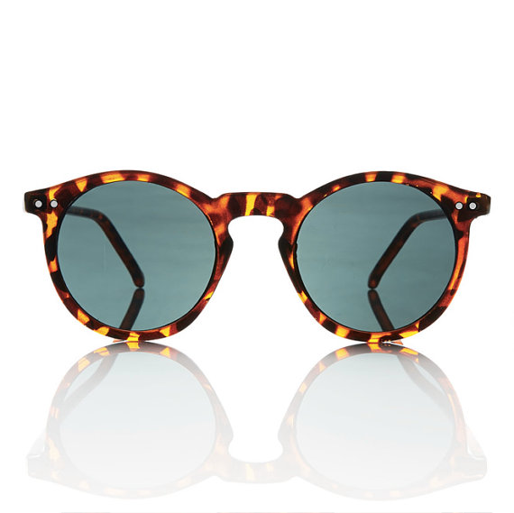 Mens Round Frame Glasses : Tortoise Mens Round Frame OMalley Sunglasses by ...