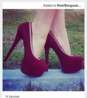 shoes,high heel pumps,pumps,purple shoes