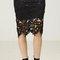 Vine crochet lace pencil skirt