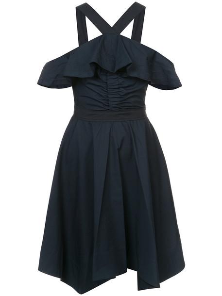 DEREK LAM 10 CROSBY dress halter dress off the shoulder women cotton black