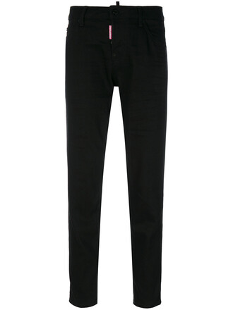 cropped women spandex cotton black pants